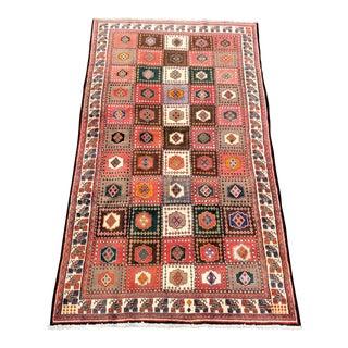 """Vintage Bactiari Persian Rug - 4'9""""x9'2"""""""