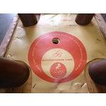 Image of Retro Pink Vinyl Bar Stools - Set of 3