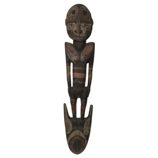 Wooden Female Figure, Sepic Papa New Guiney