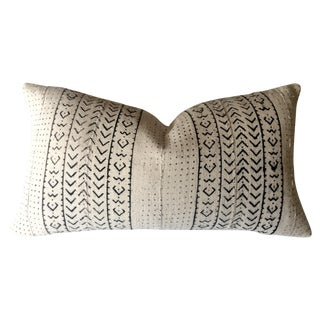 White & Black Mudcloth Pillow Cover