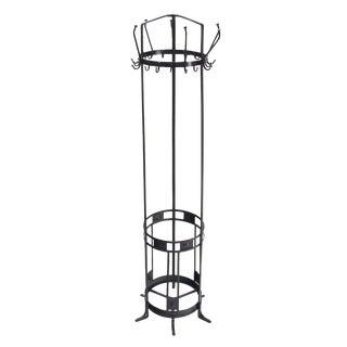 Wrought Iron Coat Rack Umbrella Stand