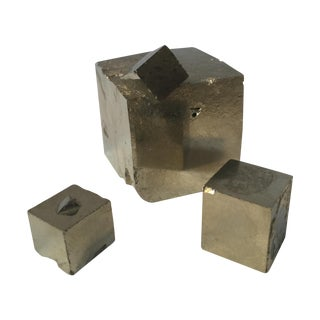 Pyrite Cube Crystals - Set of 3
