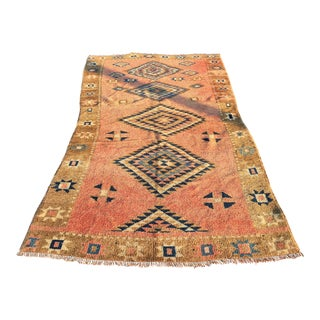 "Antique Turkish Oushak Runner - 4'3"" x 8'5"""
