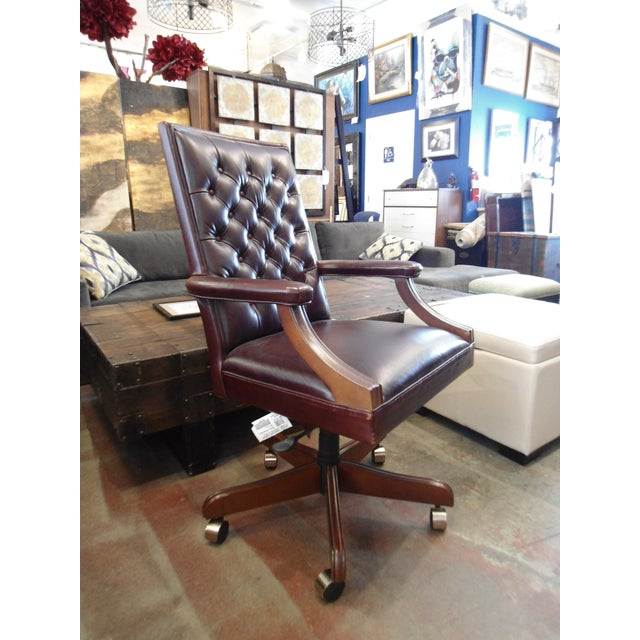 Stanley Furniture Leather Office Chair Chairish