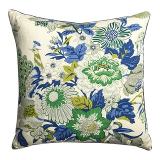Large Printed Linen Floral Pillow by Ryan Studio