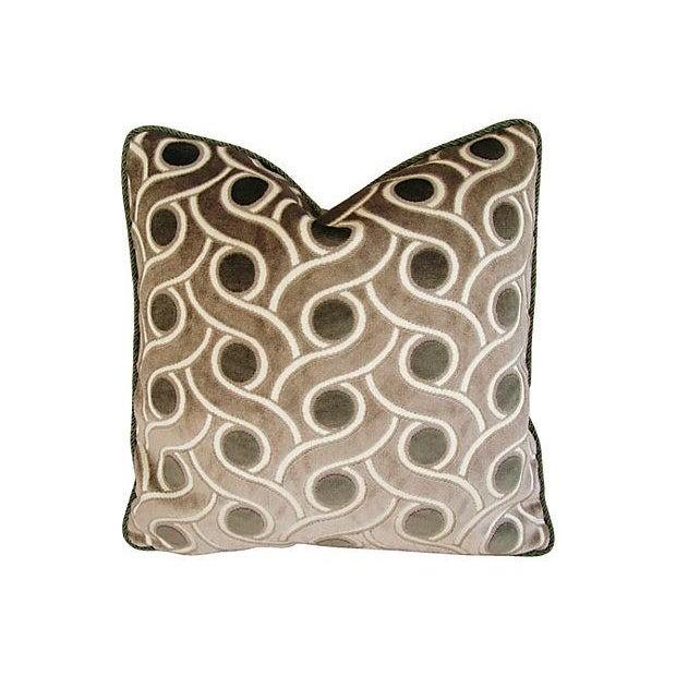 Image of Osborne & Little Cut Velvet Pillows- A Pair
