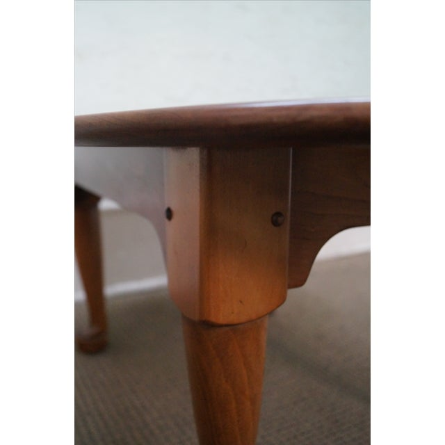 Stickley Solid Cherry Queen Anne Coffee Table - Image 5 of 10