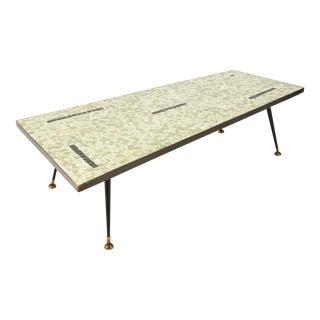 Asymmetric Glass Mosaic Coffee Table