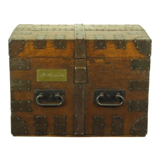 19th C. English Oak Silver Chest