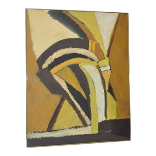 1970s Abstract Oil Painting by San Francisco Artist P. Cimenti