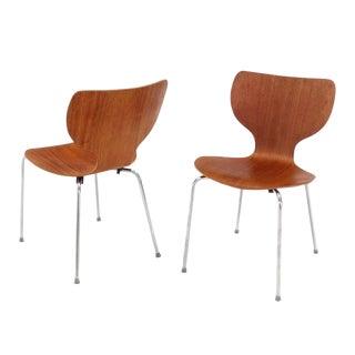 Set of Eight Molded Teak Danish Modern Dining Chairs
