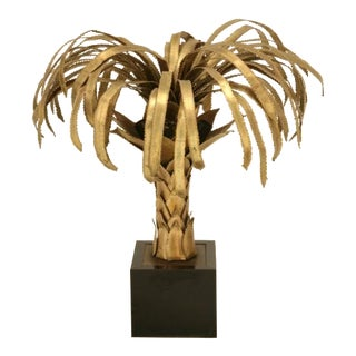 Maison Jansen Palm Tree Lamp, Designed by Christian Techoueyres c1970