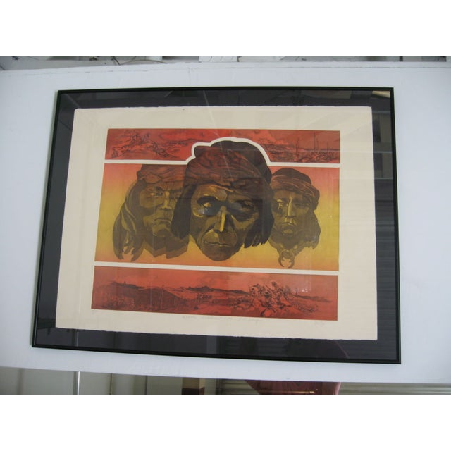 Apache Scout Lithograph by Criley - Image 3 of 3