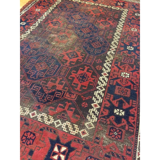 "Vintage Tribal Persian Rug - 3' x 5'10"" - Image 6 of 7"