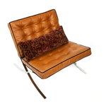Image of 1970s Barcelona Chair, Mies Van Der Rohe Style