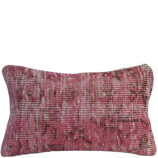 Pink Handmade Overdyed Rug Pillow Cover - Pair