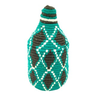 Turquoise Wool Basket