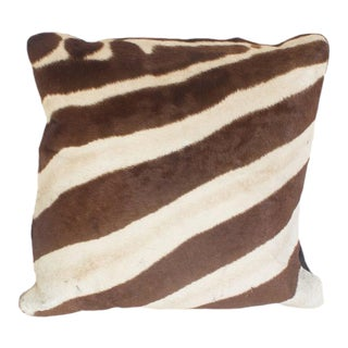 Two Zebra Hide Pillows, Priced Individually