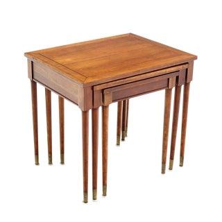 Set of Three Mid-Century Modern Walnut Nesting Tables