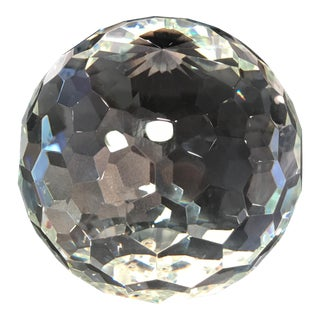 Cut Crystal Ball Paperweight