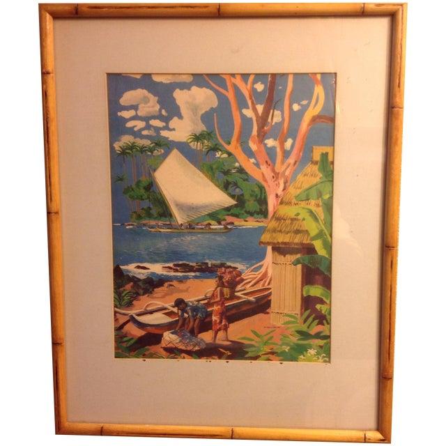 Millard Sheets Original 1947 Signed Lithograph - Image 1 of 3