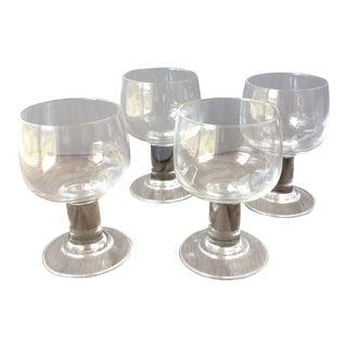 Mid-Century Modern Wine Glasses - Set of 4