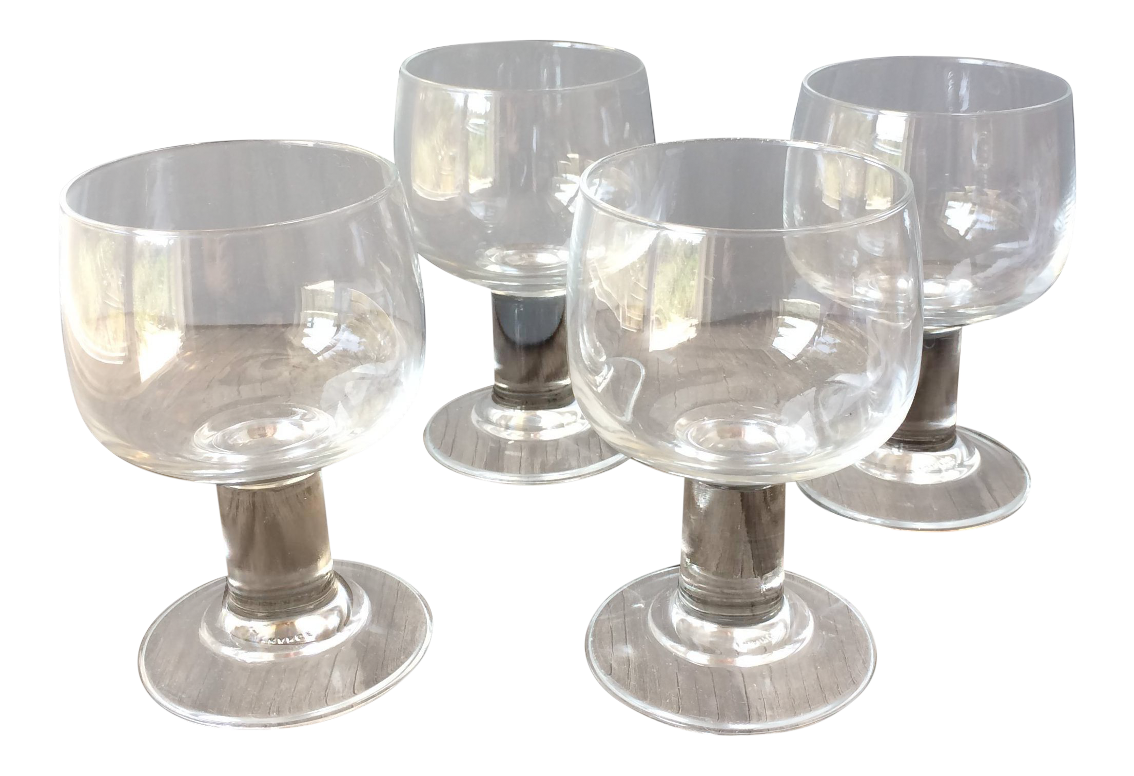 midcentury modern wine glasses set of 4
