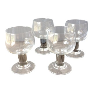 Mid-Century Modern Wine Glasses - Set of 4