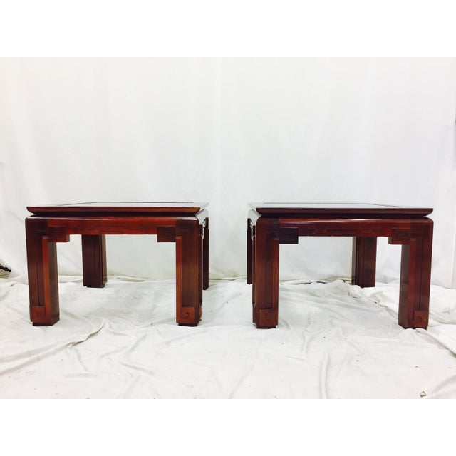 Vintage Asian Ming Style Side Tables - A Pair - Image 4 of 10