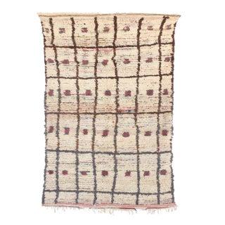 "Vintage Azilal Moroccan Berber Rug - 4'2"" x 6'4"""