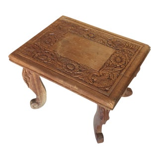 Beautiful Carved Wooden Stool