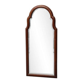 Dark Wood Framed Beveled Mirror