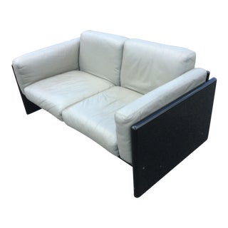 Gavina Studio Simon Italian Leather Settee