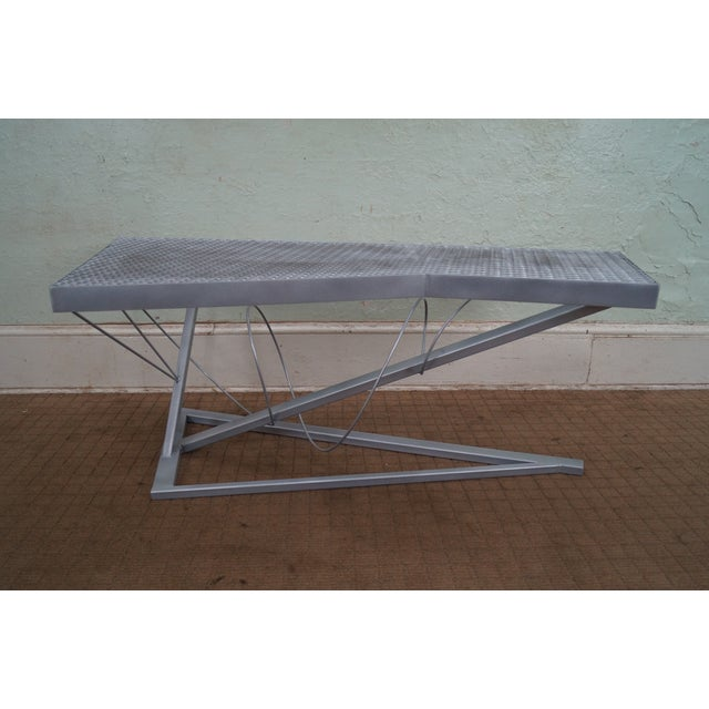 Contemporary Expanded Metal Coffee Table - Image 2 of 10