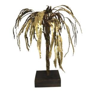 Maison Jansen Style Brass Palm Tree Sculpture