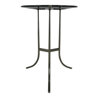 Pair of Nickel AE Side Tables with Black Marble by Cedric Hartman