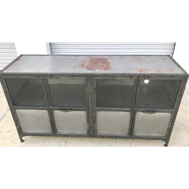 Industrial Antiqued Metal Cabinet - Image 8 of 10