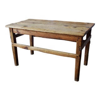 Late 1800s Antique Mexican Sabena Wood Table