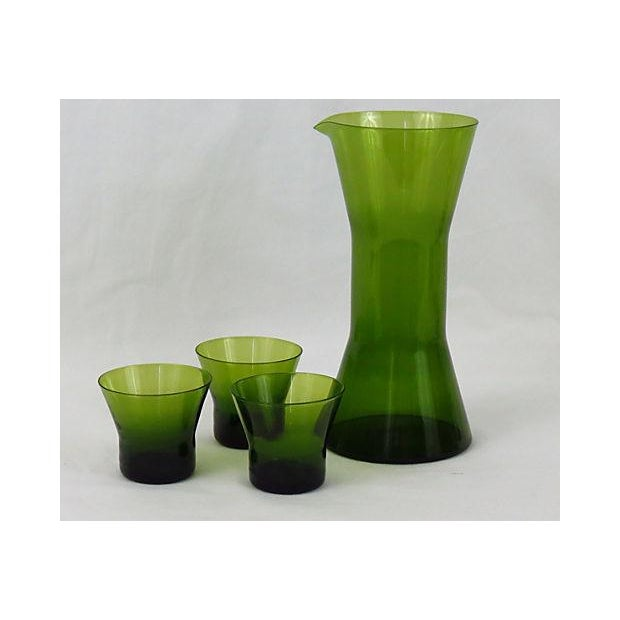 1960s Mid Century Swedish Carafe And Glasses - Image 2 of 5