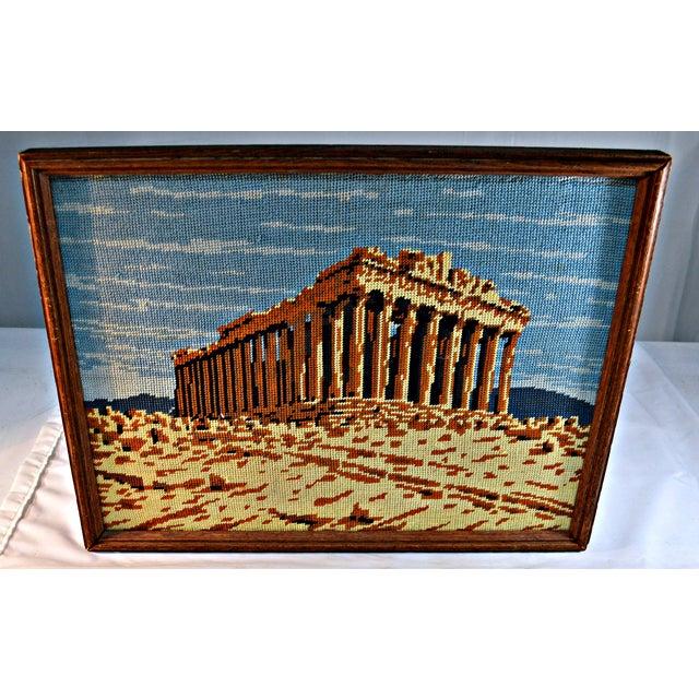 Antique Greek Parthenon Needlepoint - Image 5 of 5
