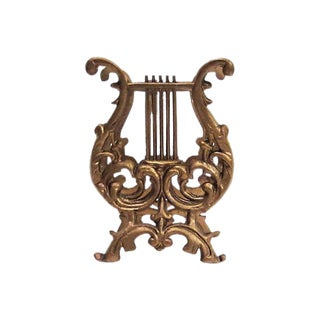 Gold Lyre Magazine Rack