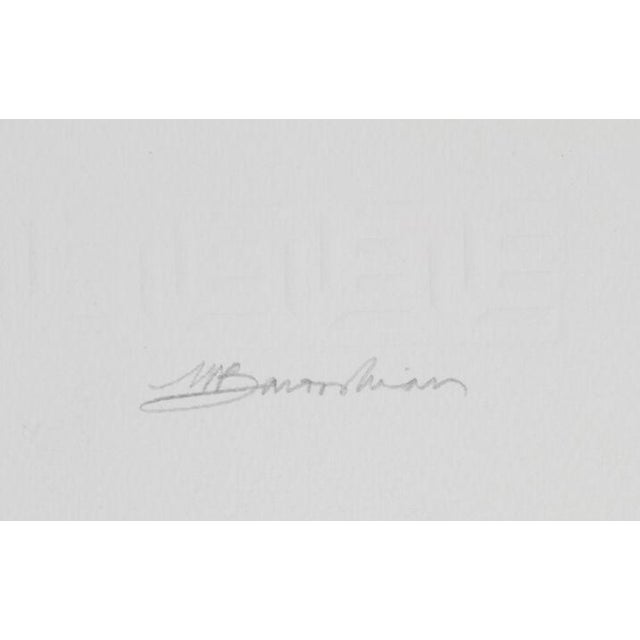 "Martin Barooshian, ""Blue Jays,"" Intaglio Etching - Image 2 of 2"