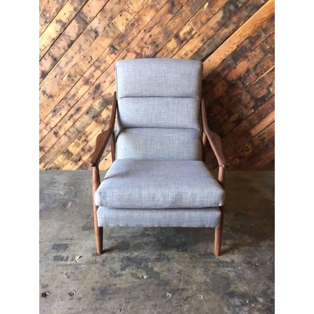Custom Danish Mid-Century Style Lounge Chair - Image 5 of 5