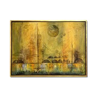 Mid Century Oil Painting by Van Hoople