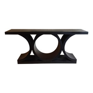 Black Architectural Console Table