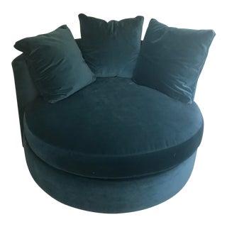 Blue Hollywood Swivel Chair