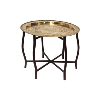 Brass Tray Top Cocktail Table