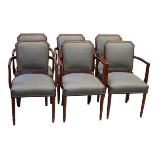 French Gray Dining Armchairs - Set of 6
