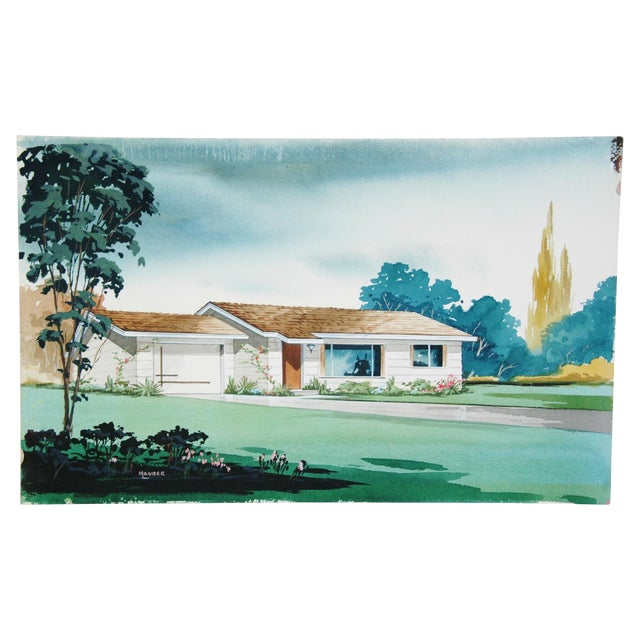 Architectural Watercolor by Bill Maurer - Image 1 of 4