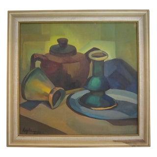 1950s Cubist Still Life Painting